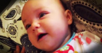 4-Month-Old Baby Sings Along To 'Amazing Grace'