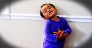 Precious Tot Sings 'Amazing Grace'
