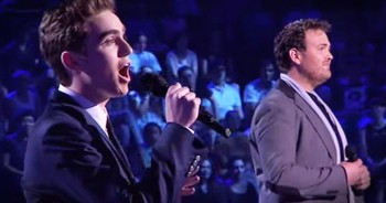2 Guys Earn Standing Ovation With Josh Groban's 'You Raise Me Up'