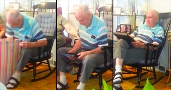 Grandpa Breaks Down After Seeing Photo Of His Mother