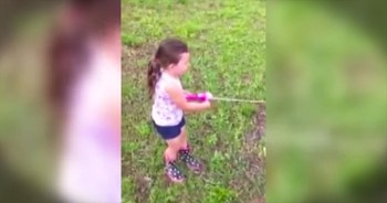 Daddy Is Super Excited When Little Girl Catches Huge Fish