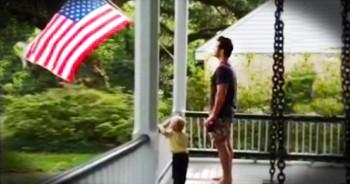 Actor Chris Pratt Recites The Pledge Of Allegiance With His 2-Year-Old Son