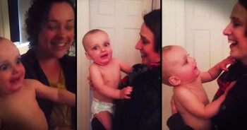 Precious Baby Is Confused When He Meets Mom's Twin