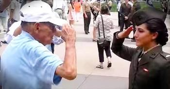 Veteran Asks Formal Permission To Hug Granddaughter