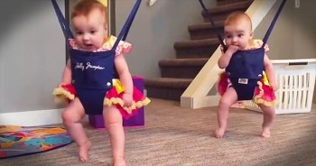 Twin Babies Bring The Smiles With Irish Dance