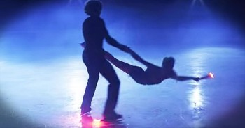 Ice Skaters Attach Flares To Skates For 1 Epic Performance