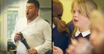 Opera Flash Mob In School Cafeteria