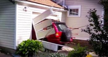 91-Year-Old Crashes Thru Garage Door For Bucket List