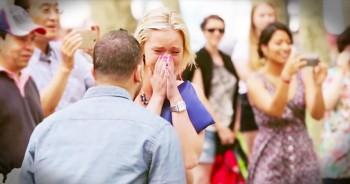 Emotional Flash Mob Proposal With Church Dancers