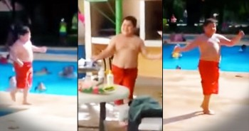 Little Boy's Poolside Rumba Dance Will Make Your Summer