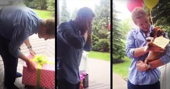 Boyfriend Gets Surprised With Boxer Puppy