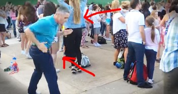 Dad Busts A Move At Outdoor Concert