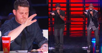 Michael Bublé Does The INCREDIBLE During This Singing Duo's Audition