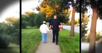 Police Officer Walks Woman With Special Needs Home