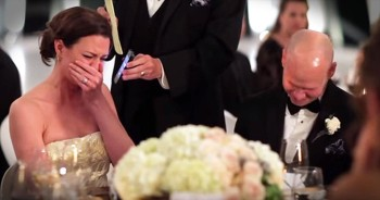 Grandfather Surprises Bride With Emotional Toast Over The Phone