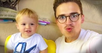 Father-Baby Duet To This Popular Song Will Give You The BIGGEST Smile!