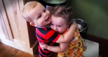 Little Boy Has The SWEETEST Reaction To Hugging Girl For The 1st Time