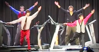 4 High Schoolers Perform Insanely Talented Treadmill Dance