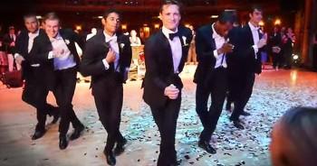 Professional Dancer Surprises Ballerina Bride With EPIC Groomsmen Dance