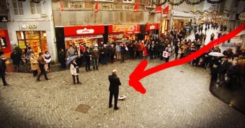 When This Street Performer Started Singing 'You Raise Me Up' The Whole World Stopped