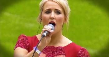 Widowed Mother Sings Emotional Hymn Where Husband Died