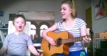She Started Singing Her Brother's Favorite Song, And When He Joined In…Smiles!