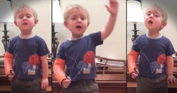 3-Year-Old Passionately Belts Out Musical Number