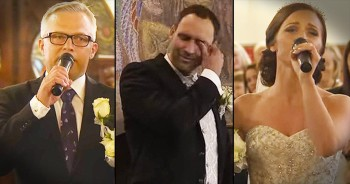 Bride And Dad's Wedding Version Of 'You Raise Me Up' Had The Groom In Tears