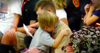 5-Year-Old Shares Emotional Reunion With Military Father And Best Friend