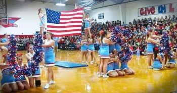 Cheerleading Routine In Honor Of The USA Has The Internet On Fire!