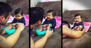 Baby Girl Pranking Her Dad Will Have You LOLing!