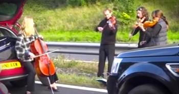 String Quartet Puts The 'Jam' In Traffic Jam!