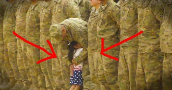 Little Girl Runs To Her Daddy During Homecoming Ceremony