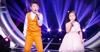 2 Children Sing 'You Raise Me Up' – I've Got CHILLS!