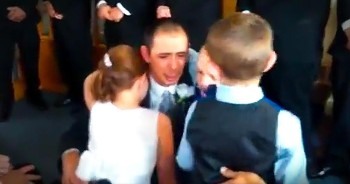 Groom Says Tearful Vows To Bride's 3 Children