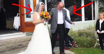Father With Leukemia Stands Up To Walk Daughter Down The Aisle