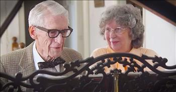 80-Year-Old Couple Beautifully Play Piano Together
