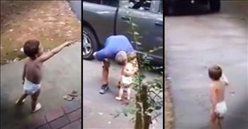 Little Boy Says Sweetest Goodbye To Daddy Going To Work