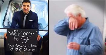 They're Surprising Total Strangers At The Airport And It's AWESOME!