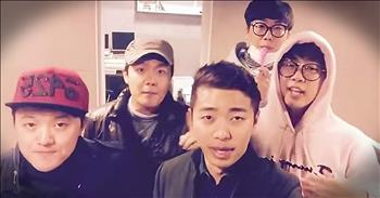 Boy Band Sings A Cappella Version Of 'Isn't She Lovely'