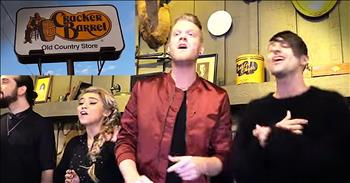A Cappella Group Pentatonix Surprises Cracker Barrel Diners