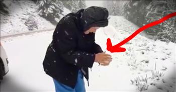 101-Year-Old Playing In The Snow - Age Is Just A Number!