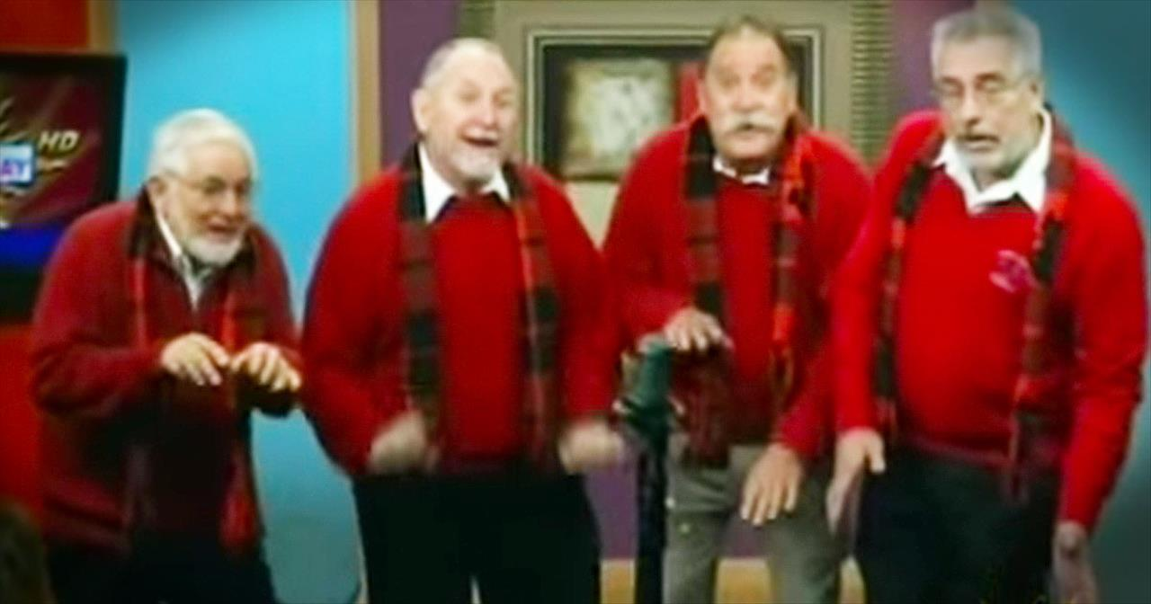 Barbershop Quartet Performs \'I Want A Hippopotamus For Christmas ...