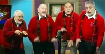 Barbershop Quartet Performs 'I Want A Hippopotamus For Christmas'