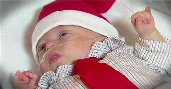 Premature Baby Gets A Beautiful Christmas Miracle!