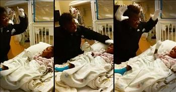 Woman Dances With Godbaby In Hospital Bed After Surgery
