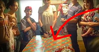 Military Son Hides In Box To Surprise Mom For Birthday