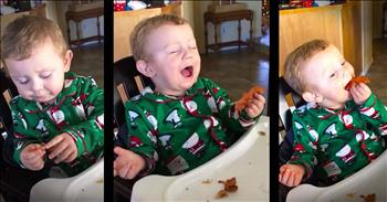Baby Boy Eats Bacon For The First Time – Oh My Cuteness!