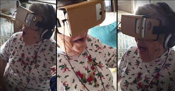 88-Year-Old Has Amazing Reaction To Virtual Reality Ride