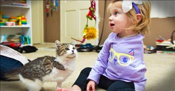 Little Girl And Her Kitty Are A PURR-Fect Match!
